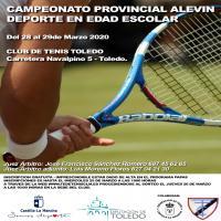 Cartel Fase Provincial de Tenis Toledo - Alevín