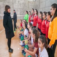 Entrenamiento selección femenina balonmano